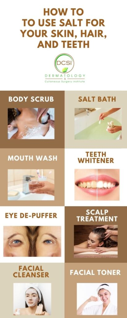 infographic on DIY ways to use salt for your skin